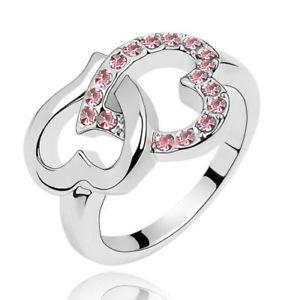 【送料無料】ブレスレット リングクリスタルスワロフスキーエレメントピンクハートanello donna cristallo swarovski elements cuore rosa n13 varie misure