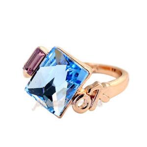 【送料無料】ブレスレット リングクリスタルスワロフスキーエレメントanello donna cristallo swarovski elements celeste n61