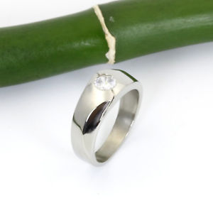 【送料無料】ブレスレット ステンレススチールリングmoderno senza tempo da donna anello in acciaio inox con zirkoniastein