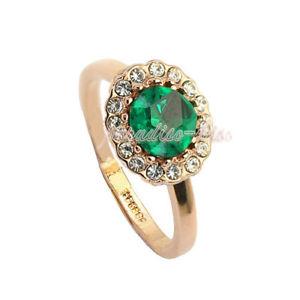 【送料無料】ブレスレット リングクリスタルスワロフスキーエレメントグリーンポイントanello donna cristallo swarovski elements punto verde n30