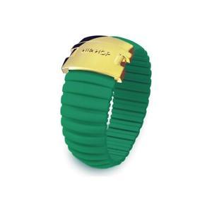 【送料無料】ブレスレット リングヒップホップアイコンシリコンエメラルドグリーンスチールanello donna hip hop icon hj0093 silicone verde smeraldo acciaio gold misura l