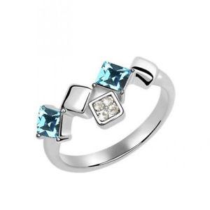【送料無料】ブレスレット リングクリスタルスワロフスキーエレメントanello donna cristallo swarovski elements celeste n28