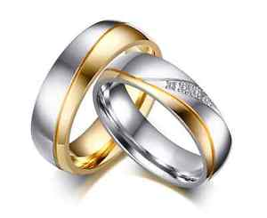 【送料無料】ブレスレット リングリングクリスタルウェディングゴールドステンレススチールanello fede fedina anello anelli fidanzamento nuziali cristallo oro acciaio inox