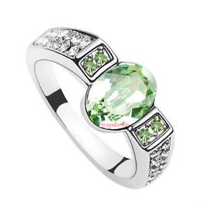 【送料無料】ブレスレット リングクリスタルスワロフスキーエレメントグリーンanello donna cristallo swarovski elements 17 verde n04