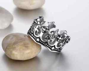 【送料無料】ブレスレット リングメンズリングステンレスリングanello in acciaio chirurgico corona mens ring stainless