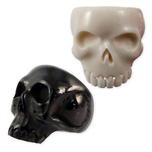 【送料無料】ブレスレット クラシックデッドスカルスカルホーンボーンスカルブラックホワイトuomoring classica morti cranio skull corno ossa teschio bianco nero