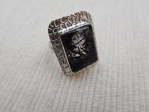 【送料無料】ブレスレット アルジェントカボションルチルドノワールbague plaqu argent cabochon ovale rutile de quartz noir taille 55 54grs b1071