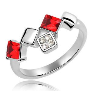 【送料無料】ブレスレット リングクリスタルスワロフスキーエレメントanello donna cristallo swarovski elements rosso n28