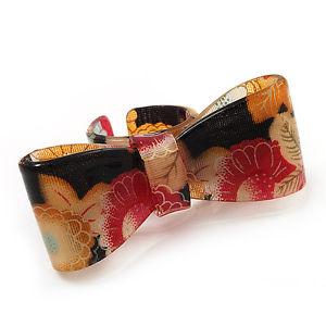 【送料無料】ブレスレット アクリルステープルサイズリングlarge nerorosso acrilico anello floreale con fioccotaglia 8