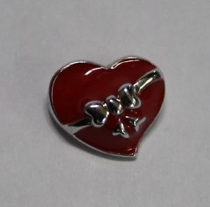 【送料無料】ブレスレット エナメルタラハートシルバーペンダントciondolo in argento 925 a forma di cuore con smalto rosso cod 2513