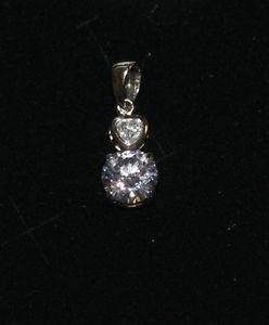 【送料無料】ブレスレット シルバーペンダントciondolo in argento 925 snodato con due zirconi incastonati