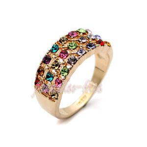 【送料無料】ブレスレット リングクリスタルスワロフスキーエレメントマルチカラーanello donna cristallo swarovski elements 16 multicolore n46