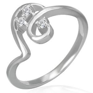 【送料無料】ブレスレット ステンレススチールテープシルバーリングリングリングanello in acciaio inossidabile apart con zirconi nastro anello argento anello dito me 218