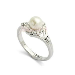 【送料無料】ブレスレット リングクリスタルスワロフスキーエレメントパールanello donna cristallo swarovski elements 18 perla n36