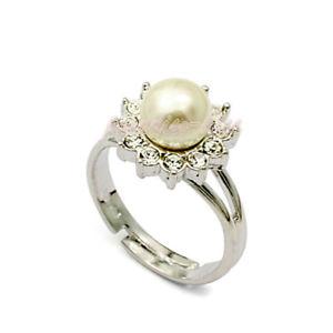 【送料無料】ブレスレット リングクリスタルスワロフスキーエレメントパールanello donna cristallo swarovski elements 18 perla n35