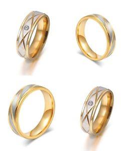 【送料無料】ブレスレット ステンレスゴールドシルバー2 anelli di fidanzamento in acciaio inossidabile fedi fedine oroargento nuovo
