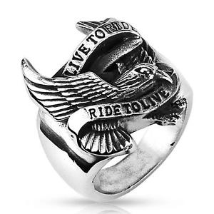【送料無料】ブレスレット エグルバイカーハーレーアメリカライブbague aigle live to ride biker acier 316l , harley,usa,