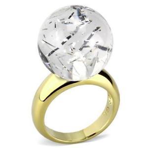 【送料無料】ブレスレット リングktゴールドリング084 anello oro 18kt univoco durata 19mm sfera di cristallo anello decorazioni dichiarazione