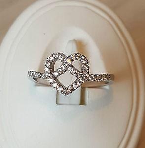 【送料無料】ブレスレット リングスターリングシルバーリングハートanelli 925 argento sterling anello cuore zirconi