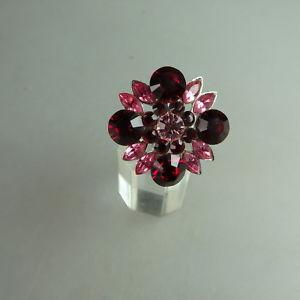 【送料無料】ブレスレット スワロフスキーエレメントリングneugablonz anello da donna fiore swarovski elementsmai usato 49610