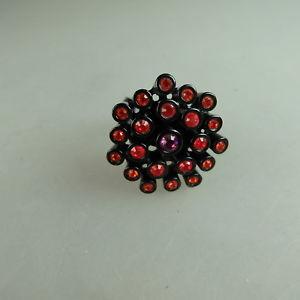 【送料無料】ブレスレット スワロフスキーエレメントリングneugablonz potente anello da donna swarovski elementsmai usato 49628