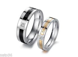 【送料無料】ブレスレット リングステンレススチールリング1 anelli n 131453 fedi nuziali fedine anelli di fidanzamento in acciaio inox