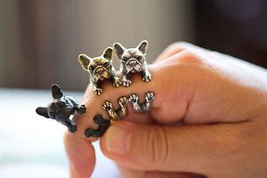 【送料無料】ブレスレット ブルドッグリングブロンズシルバーブラックbulldog anelli bronzo, argento e nero tierringe
