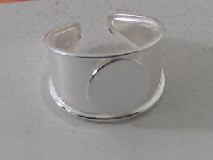 【送料無料】ブレスレット プレートベースリングシルバーベースオープン1 base anello in lastrina d argento 925 la base e aperta