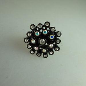 【送料無料】ブレスレット スワロフスキーエレメントリングneugablonz potente anello da donna swarovski elementsmai usato 49630