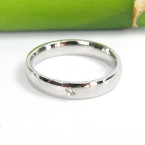 【送料無料】ブレスレット ステンレススチールリングclassico bella acciaio inox lucido anello con zirkoniastein