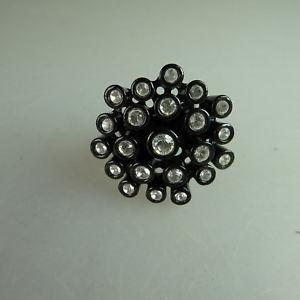 【送料無料】ブレスレット スワロフスキーエレメントリングneugablonz potente anello da donna swarovski elementsmai usato 49632