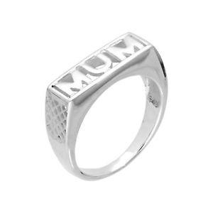 【送料無料】ブレスレット スターリングシルバーリングreal 925 argento sterling mum anello tg iw madre festa della mamma mummia