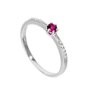 【送料無料】ブレスレット スターリングシルバーリングクリアargento sterling amp; genuine rhodolite anello w chiaro cz cristalli su spalle iu