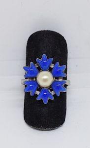 【送料無料】ブレスレット シルバーパールリングanello in argento 800 con perla centrale