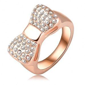 【送料無料】ブレスレット フォームローズミクロンbague en forme de noeud plaqu or rose  cristaux, 3 microns multi tailles
