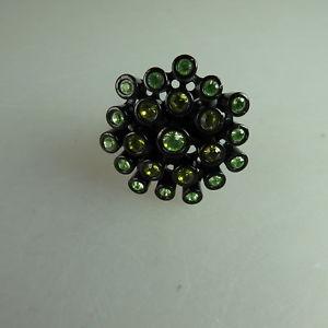 【送料無料】ブレスレット スワロフスキーエレメントリングneugablonz potente anello da donna swarovski elementsmai usato 49631