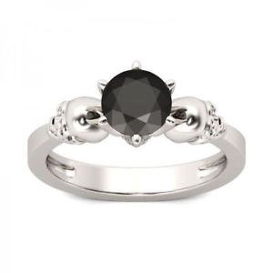 【送料無料】ブレスレット スターリングシルバースカルトパーズリングdonna 925 argento sterling teschio gemstone 15ct nero topazio abito anello
