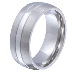 【送料無料】ブレスレット マンステンレスリングamicizia uomo anello nuziale in acciaio inox incl incisione gratis 134h