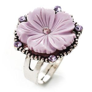 【送料無料】ブレスレット ラベンダーシルバーリングantico anello dargento fiore di lavanda