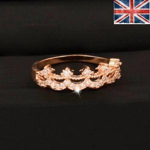 【送料無料】ブレスレット クリスタルカラーリングピンクゴールドクリスマスクラウンcorona di cristallo anelli colore oro rosa donna anello di fidanzamento regalo di natale