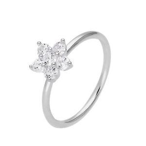 【送料無料】ブレスレット スターリングシルバークリスタルフラワーリングサイズargento sterling amp; cz cristallo anello fiore taglia smallextra large