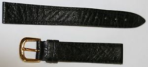 【送料無料】ブレスレット ウォッチストラップcinturino per orologio  in pelle nera mm 16 cod 764