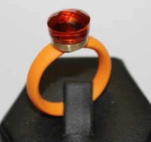 【送料無料】ブレスレット ゴムオレンジリングジルコンanello con caucciu arancione, argento 925 placcato e zircone