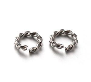 【送料無料】ブレスレット ステンレススチールバインディングリング20aperto per rilegatura anelli in acciaio inox 8mm filo spinato s1k