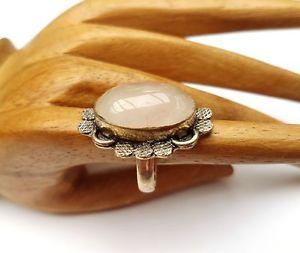 【送料無料】ブレスレット ビンテージシルバーローズクォーツリングvintage anello argento con rose quarzo argentatiossidati, tg 57 nuovo 526