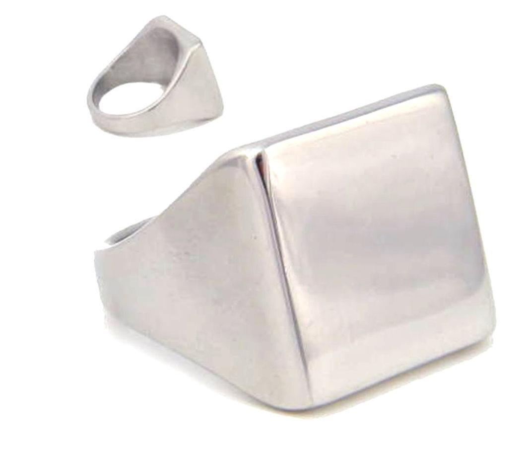 【送料無料】ブレスレット ハードシルバーステンレススチールリングanello in acciaio inox con incisione disco 1,5x1,5cm argento colori