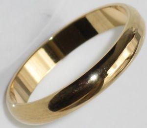 【送料無料】ブレスレット ソリッドリングda uomoda donna tinta unita anello di matrimonio placcato oro 3mm str161 sposa