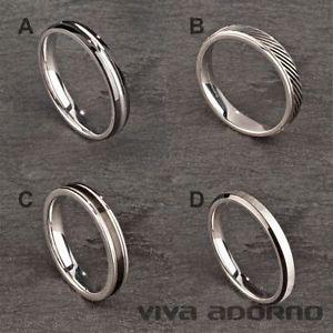 【送料無料】ブレスレット リングステンレススチールリングリングリングガラスシルバーanello in acciaio inossidabile anello dito anello da donna uomo anello di vetro smerigliato ar