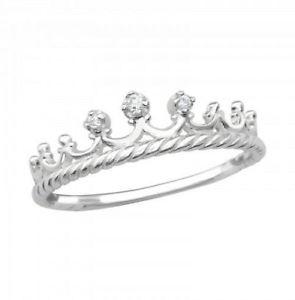 【送料無料】ブレスレット スターリングシルバーリングリングサイズバッグdonna ragazze argento sterling 925 anello corona taglia lborsa regalo