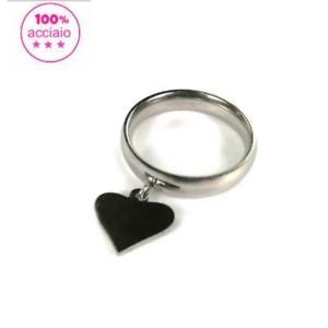 【送料無料】ブレスレット ペンダントリングanello in acciaio con pendente cuore